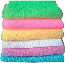 6 قطع من مناشف الاستحمام لتقشير الحمام من سوبوكس، منشفة لتنظيف الظهر لتنظيف الجسم (نمط مختلط)