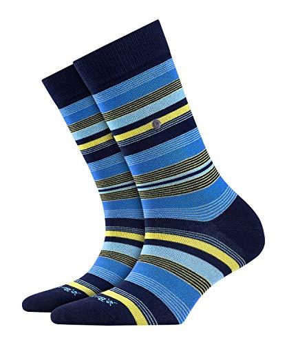 BURLINGTON Damen Socken Stripe - 80prozent Baumwolle, 1 Paar, Blau (Marine 6120), Größe: 36-41
