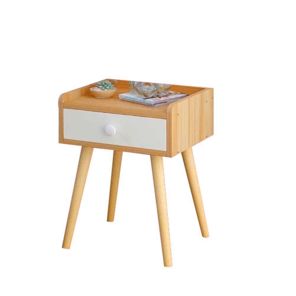 Comodino a 3 cassetti comodino in legno Comodino comodino Com/ò Cassettiera Vetrina Mobili Unit/à di archiviazione Armadietto vintage Tavolo di stoccaggio multifunzione