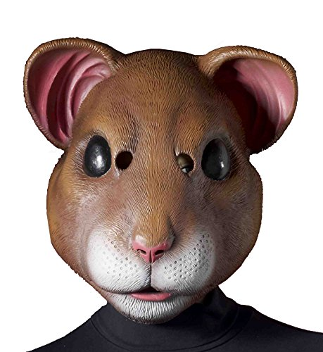 Hamster Latex Costume Mask Adult One Size