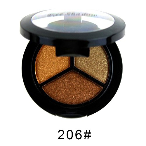MORETIME sombra de ojos cosmética altamente pigmentado Mate Shimmer Crema de Maquillaje Paleta con Color Cálido y Frío Smoky Cosmetic Set 3 colores Profesional Natural Mate Maquillaje Sombra de Ojos