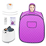 S SMAUTOP Personal Sauna Steamer, Home Spa Full Body Relaxed And Face Spa Machine Sauna Tent With 9 Files Temperature Adjustment, For Weight Loss Detox Therapy