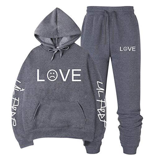 Lil Peep Jeansjacke 2 Stück Lil + Peep + Hoodie Hip Hop Hoodie Sweatshirt Tops Pullover Lil Peep Pulli Sweatshirt Decke Für Frauen M.