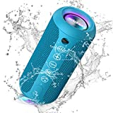 Ortizan Portable Bluetooth Speaker, IPX7 Waterproof Wireless Speaker with 24W Loud Stereo Sound, Outdoor Speakers with Bluetooth 5.0, 30H Playtime,66ft Bluetooth Range,Dual Pairing for Home
