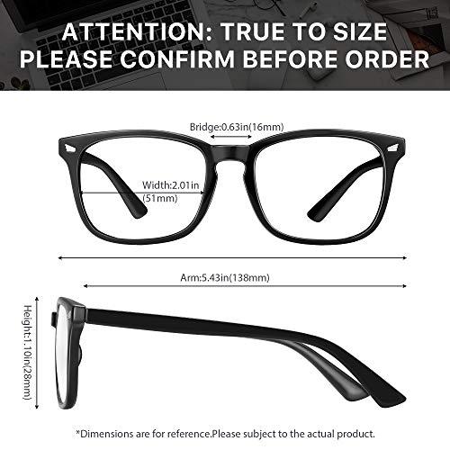 3 Pack Blue Light Blocking Glasses-Blue Light Glasses for Women Computer Glasses Anti eyestrain Eyeglasses Readers for…