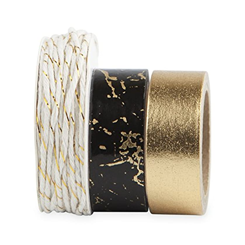 Cakewalk 6739 Gold Speckle Washi Tape & Twine Decorative Tape,