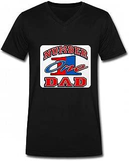 ナンバーワンお父さんお父さんお父さんの日 Men V Neck T-Shirts メンズ Tシャツ