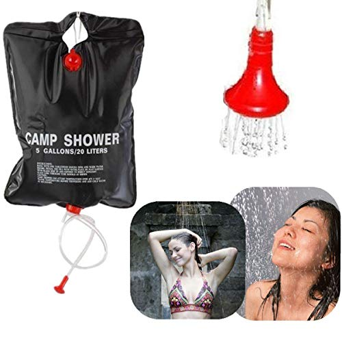 Save %34 Now! Solar Shower Bag 5 Gallon Camping Outdoor Portable Large Mount Hanging Campers