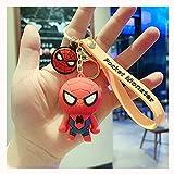 SPOTOR Spiderman Captain America Personnalité Créatif Couple Couple Keychain Cute Chaîne Mignon Homme Poupée Pendentif Keychain Chaîne Chaîne Bague Sac Accessoire Pendentif (Color : E)