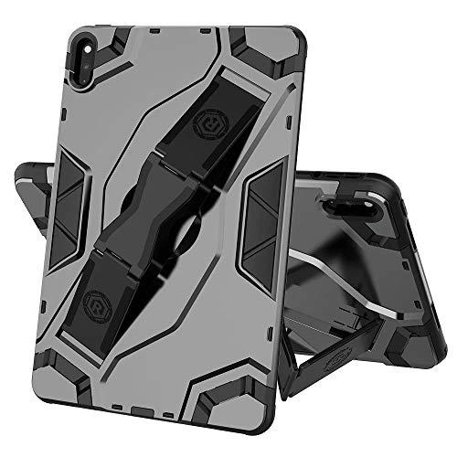 FanTing Cover for Lenovo Tab E10 TB-X104F Tablet Case, non-slip hand strap, adjustable segment bracket, anti-fall protective shell suitable for Lenovo Tab E10 TB-X104F.(Black)