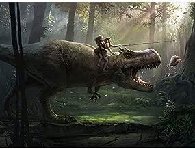 Dinosaur T-Rex DIY 5D Diamond Painting Kit, Mosaic Diamonds Kit 30cm X 40cm, Full Square/Round Drill