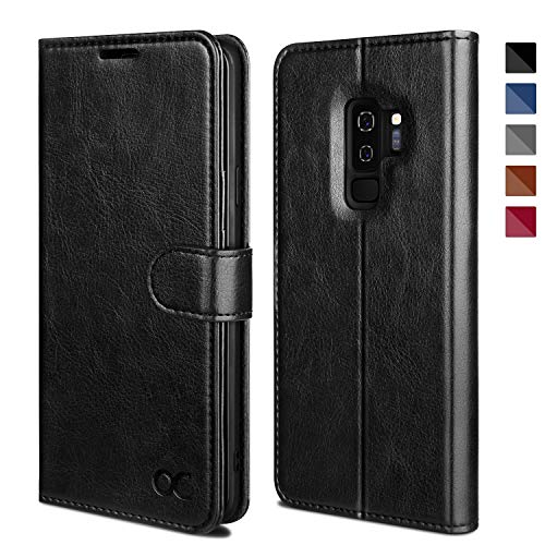 OCASE Coque Samsung S9 Plus, Antichoc TPU Housse Galaxy S9 Plus Cuir Premium Flip Case Portefeuille Etui [Béquille] [Fentes pour Cartes] [Fermoir Magnétique] Coque pour Samsung Galaxy S9 Plus / S9+