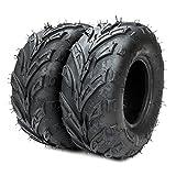 Motorhot 2 Pcs 145/70-6 ATV Go Kart Tires Sport ATV & Offroad Tires 4 Ply Black