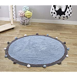 no-branded INS Baby Infant Play Mats Kids Crawling Carpet Floor Rug Baby Bedding Rabbit Blanket Cotton Game Pad Children Room Decor 120CM LYFTLKJ (Color : 3, Size : 120CM)
