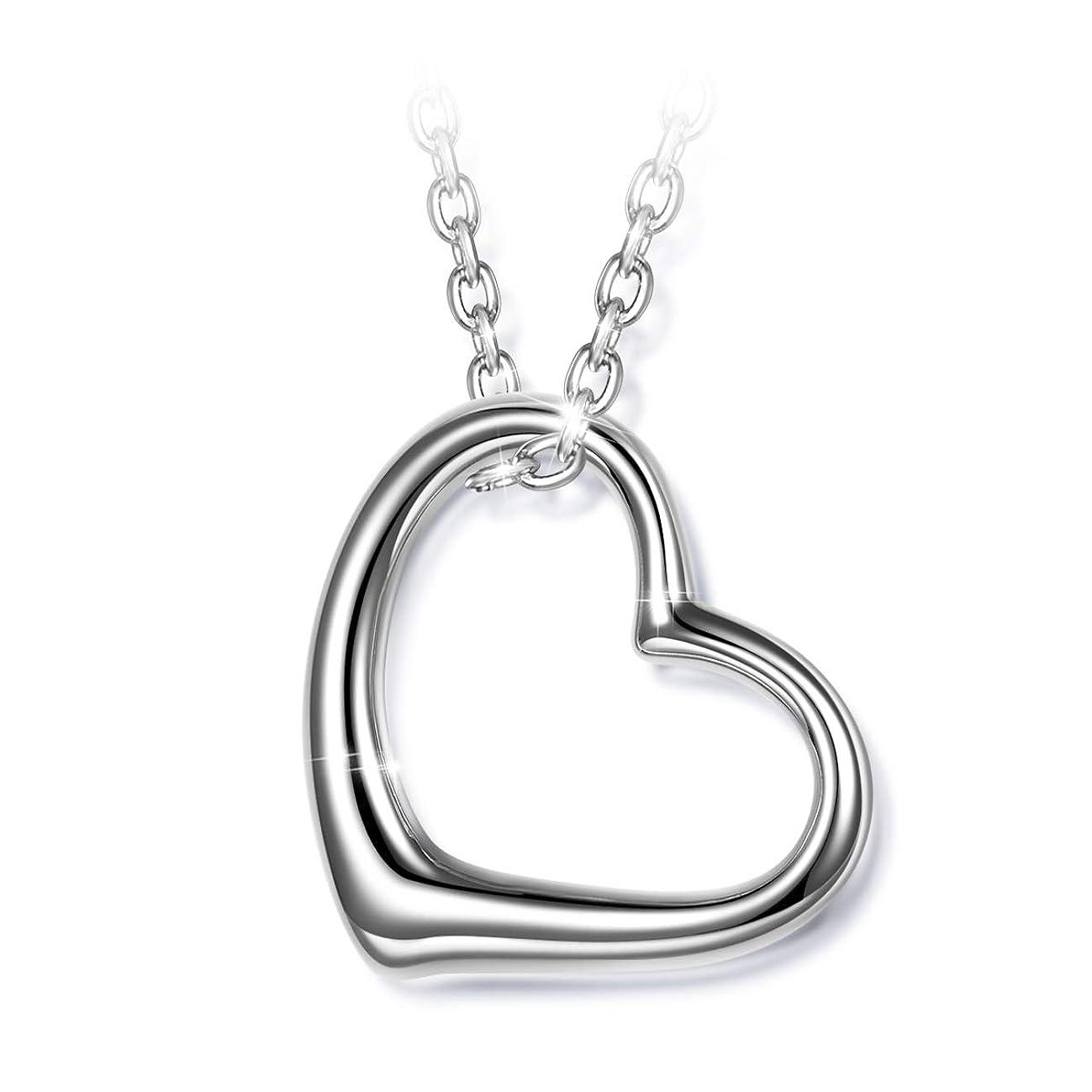 J.NINA Women Heart Neckalce 925 Sterling Silver Women Jewelry Anniversary Birthday Gifts Present for Her Girls Wife