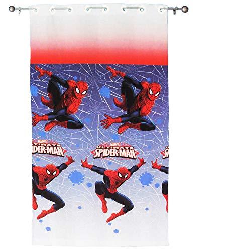 alles-meine.de GmbH Vorhang / FERTIG - Gardine aus Chiffon -  Ultimate Spider-Man  - 140 * 240 cm lang - transparent Organza / Voile - für Fenster & Türen / Fertigschal - Kinde..
