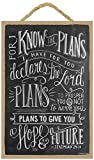 SJT ENTERPRISES, INC. I Know The Plans I Have for You, declares The Lord (Jeremiah 29:11) 7' x 10.5' Wood Plaque Sign Featuring The Chalk Artwork of Ampersand (SJT14838)