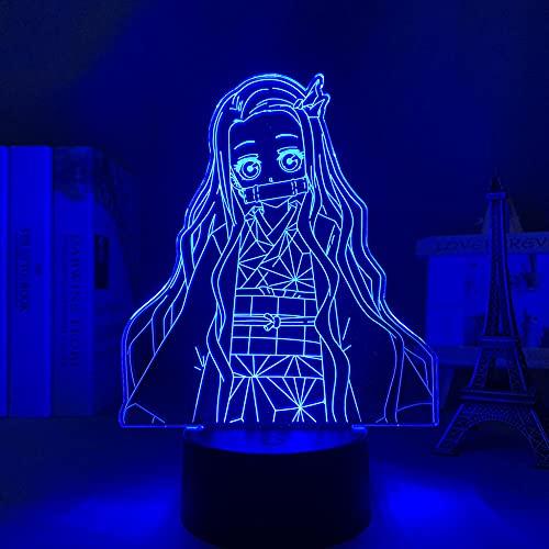 Luz nocturna LED en 3D con diseño de anime para habitación infantil, ideal como regalo de cumpleaños, para niñas y niños