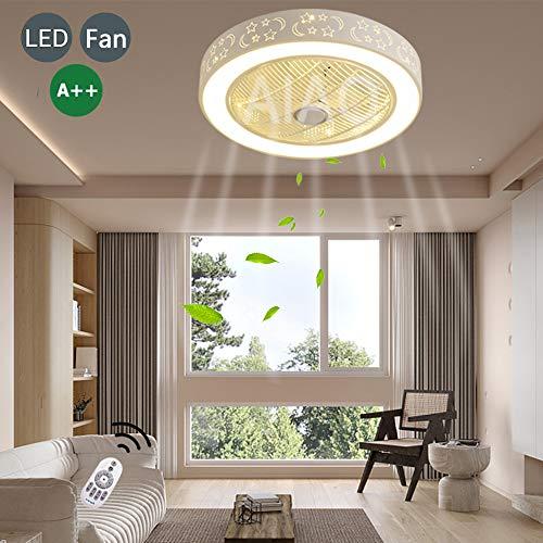 Ventiladores De Techo Con Iluminación LED Lámpara De Araña Con Ventilador Invisible Lámpara De Ventilador Con Temporizador De Atenuación Ultra Silenciosa Adecuada Para Habitación De Bebés Dormitorio