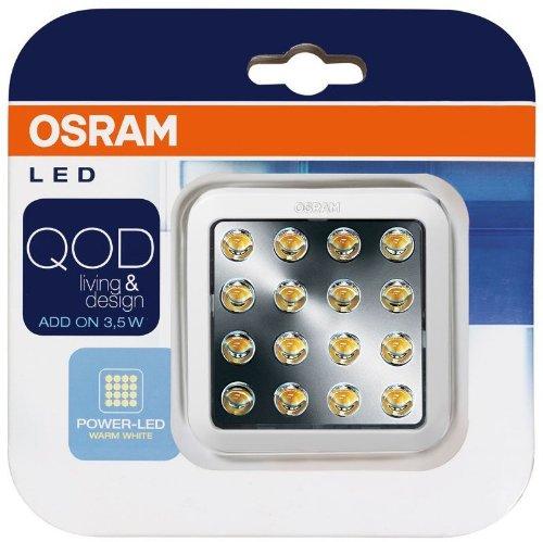 OSRAM QOD LED-Unterbauleuchte Add-on  / 3,5 Watt / energieeffizientes LED Panel ohne Trafo /  7 cm, warmweiß, 3000K - weiß