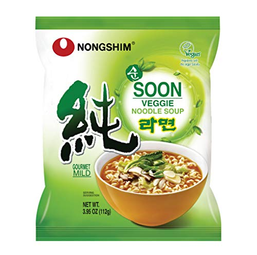 Nongshim Soon Noodle Soup, Veggie, 3.95 Ounce (Pack of 10)