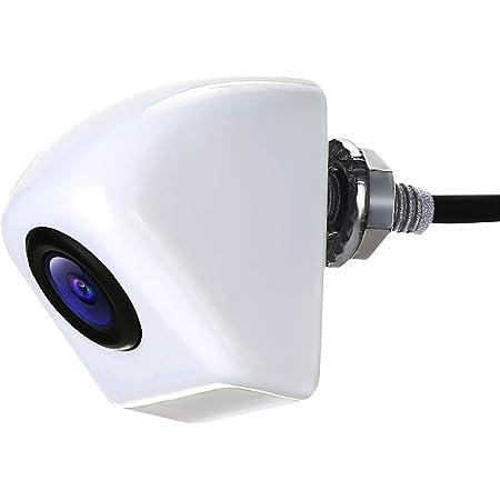POMILE バックカメラ 車用 カメレオンカメラ 58万画素 超強暗視 広角170°正像/鏡像 ガイドライン有無 IP68 12V車 日本語マニュアル付き 一年保証 ホワイト
