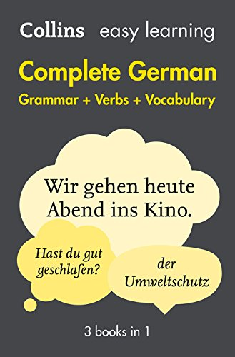 Easy Learning Complete German -  Grammar, Verbs and Vocabulary (3 Books in 1) (Collins Easy Learning German)