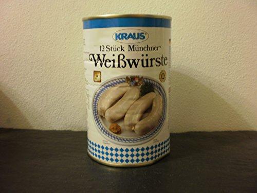 12 Stück Münchner Weißwurst vom Metzger keine Industrieware Konserven 750 Gramm