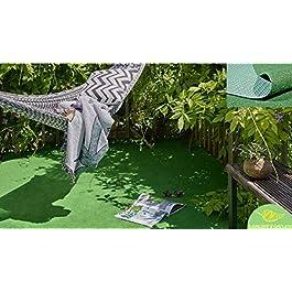 MadeInNature Moquette Couleur Gazon Vert d'extérieur ou d'intérieur | Grand Choix de Dimensions | Tapis Type Gazon…