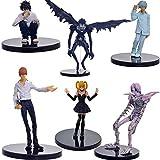 MNZBZ 6 unids/Set Anime Death Note L Killer Ryuuku Rem Misa Amane PVC Figuras de Acción Juguetes