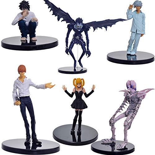 CXNY 6 unids/Set Anime Death Note L Killer Ryuuku Rem Misa Amane PVC Figuras de Acción Juguetes