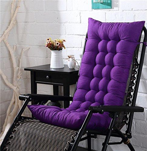 MM-CDZ Thicken Rocking Chair Cushions Not-slip High Back Seat Cushion,One-piece Patio Chair Lounge Chair Cushion Replacement Pad For Garden Deep Purple 125x48cm(49x19inch)