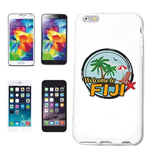 Reifen-Markt Funda compatible con iPhone 5C, diseño con texto 'Welcome to Fiji'