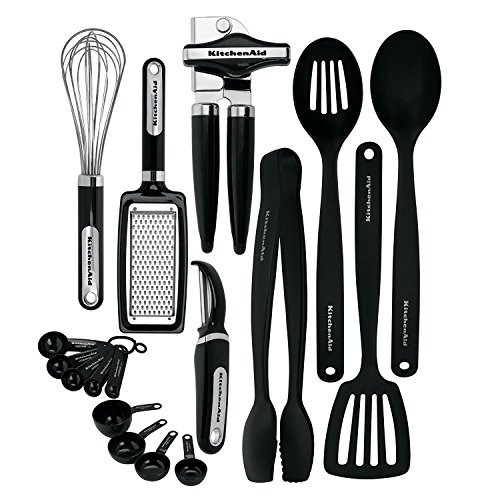 KitchenAid Classic Tool and Gadget Set, 17-Piece Black