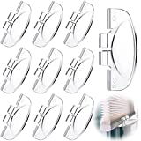 10 Pieces Cordless Honeycomb Shade Handle Cordless Blind Handle Cordless Top Down Bottom Up Handle Clear Plastic Lifting Handle Window Shade Rail Handle with Angled Hook for Home Office, 2 x 1 Inch