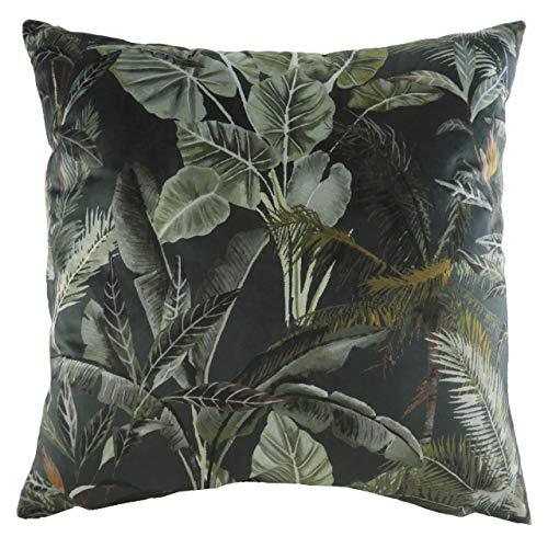 Evans Lichfield Kibale Leaves Polyester Filled Cushion, Multi, 43 x 43cm
