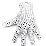 Right hand-free size Double Sides Rhinestone Gloves For men and Women