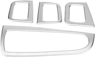 Keenso Auto Fenster anhebender Knopf Dekorations Rahmen ABS Chrom Auto Fensterheber Knopf Schalter Abdeckungs