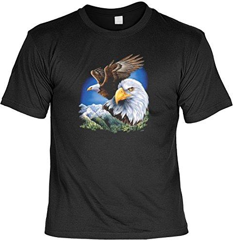 Mythologie der Ureinwohner Nordamerikas T-Shirt Zwei Adler (Größe: XXL) in schwarz