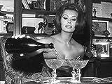 Celebrity Photos Sophia Loren Pouring Wine Photo Print