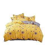Lenzuolo trapuntato a quattro pezzi in cotone lavato Copriletto Trapunta dormitorio per studenti Lenzuolo a tre pezzi Folla