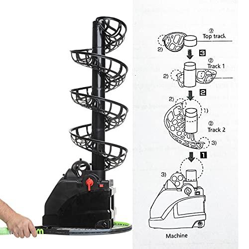 FXEEXD Portable Tennis Ball Tosser/Feeder for Kids and Beginners(4lb) - Battery Powered –Hold 30 Balls