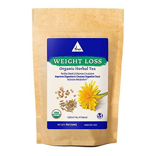 Isha Herbal Weight Loss Tea - Purify And Cleanse Body, Boost Immunity And Detox Naturally, Organic Ayurvedic Recipe With Dandelion Root, Astragalus, Echinacea, 6 Ounce Re-Sealable Pouch