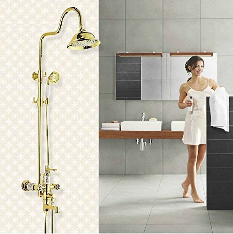golden shower set continental copper shower faucet shower set