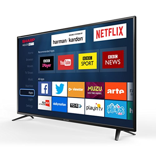 Sharp LC-40CFG6021K 40-Inch LED Smart Full HD TV with Freeview HD 3 x HDMI, Scart, USB Record