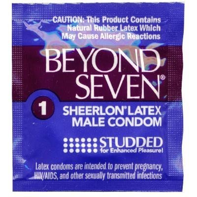 Okamoto BEYOND SEVEN Studded Condoms - 108 count