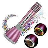Micrófono Karaoke Bluetooth portátil, Reproductor De Música Máquina Mic Altavoces...