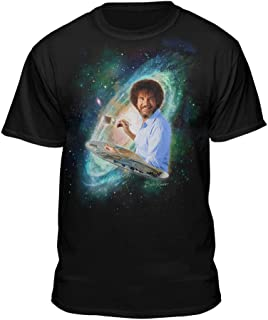 Space & Galaxy Bob Ross Painters Officially Licensed T-Shirt (X-Large)
