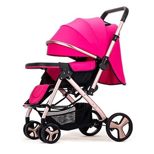 GWX Baby Pushchair, Ultra Compact en lichtgewicht kinderwagen vanaf de geboorte, gemakkelijk vouwen, 0 maanden-3,5 jaar, met ligpositie en veilige vijfpuntsgordel, voor baby's