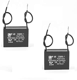 2X CBB61 450VAC 4UF METALLIZED CAPACITOR FOR MOTOR START-UP CEILING FAN